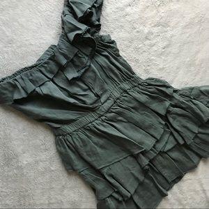 Isabel Marant Étoile Irene Linen 1-Shoulder Dress
